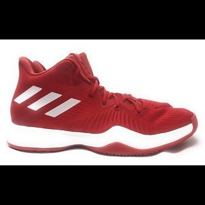 Mens Adidas Basketball Shoes Size 12.5 Red AC7218